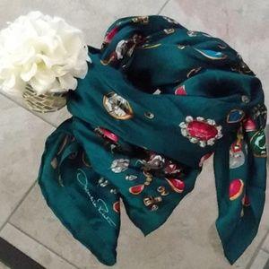 Oscar de la Renta silk scarf vintage